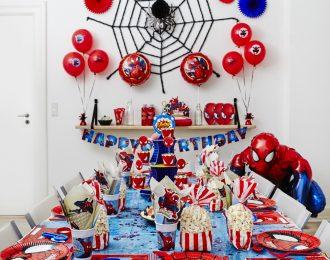 Spiderman Pynt Børnefødselsdag/Temafest