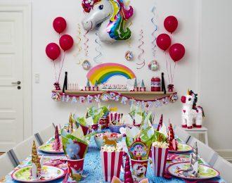 Enhjørning/Unicorn Temafest Børnefødselsdag