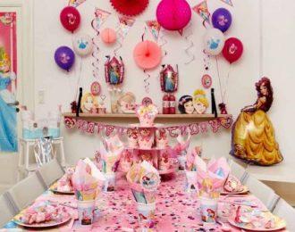 Disney Prinsesse Pynt Børnefødselsdag/temafest