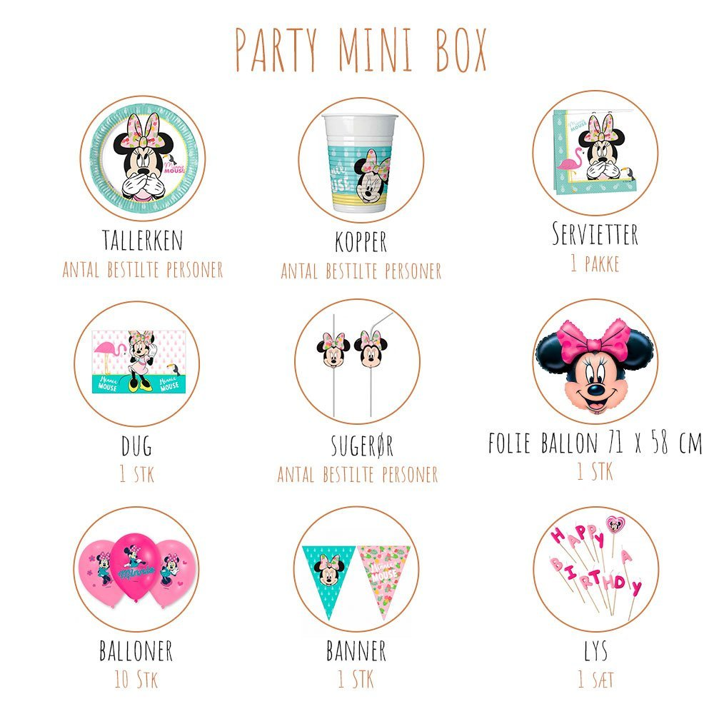 minnie mouse produktoversigt