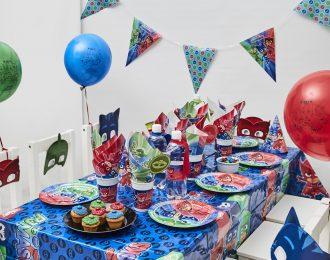 Pyjamas heltene Børnefødselsdag/temafest