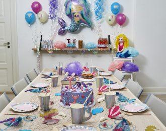 Havfrue Børnefødselsdag/Temafest pynt