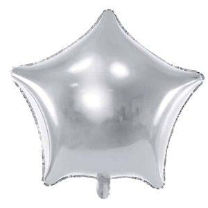 Sølv stjerne folie ballon