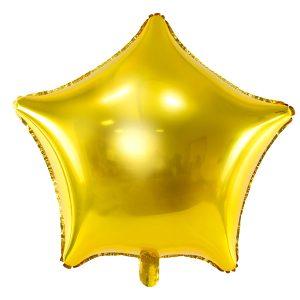 Guld folie ballon stjerne