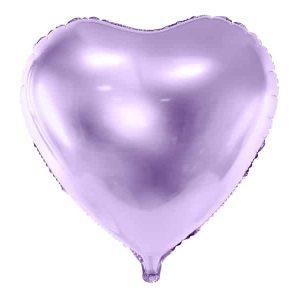 Lys lilla hjerte folie ballon