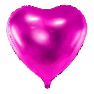 Pink hjerte folie ballon