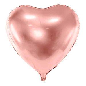 Rosegold hjerte folie ballon