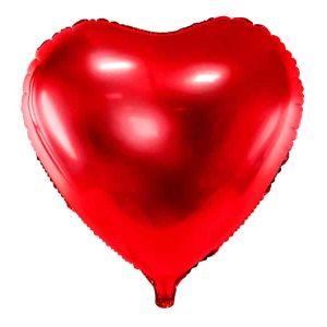 Rød hjerte folie ballon