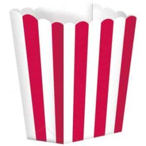 Rød/hvid popcorn box