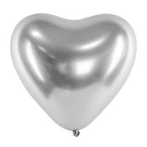 Sølv hjerteballon