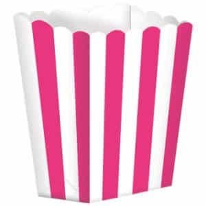 Pink/hvid popcorn box