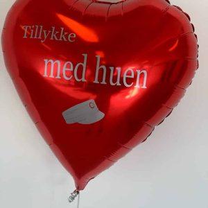 Hjerteballon med tekst