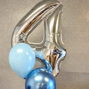 Ballon box et tal med to balloner
