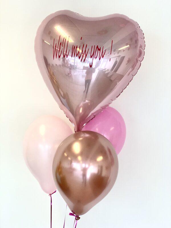 Ballon box hjerte og balloner