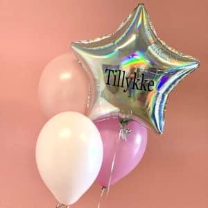 Stjerne folie ballon box