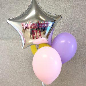 Ballon box stjerne med tre balloner