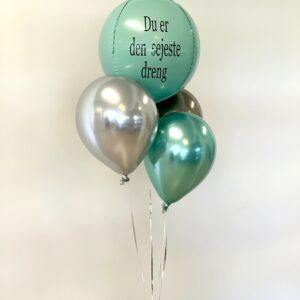 Rund bold folie ballon box