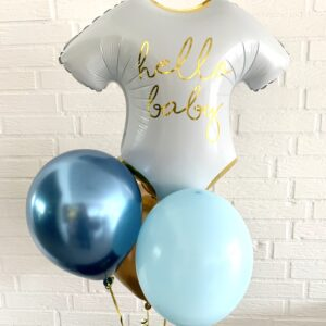 """Ballon box """"Hello Baby"""" med tre balloner"""