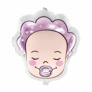 Baby pige folie ballon