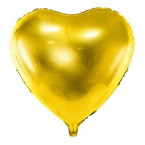 guld hjerte ballon