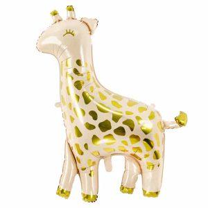 Guld giraf folie ballon