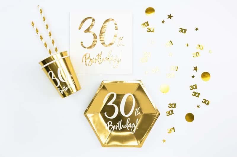 Guld 30 års konfetti