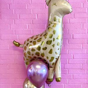 Ballon box giraf med tre balloner
