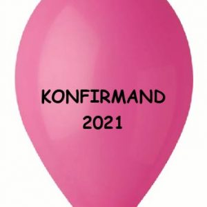 Konfirmand 2021 pink ballon