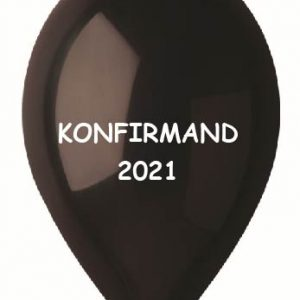 sort ballon konfirmand 2021