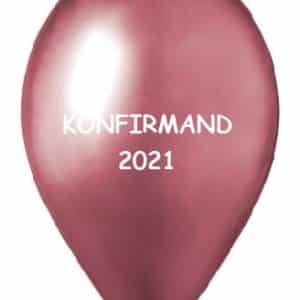 konfirmand 2021 rosa chrome ballon